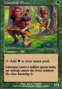 Llanowar Elves - 7th Edition