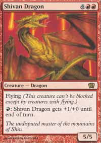 Shivan Dragon - 8th Edition