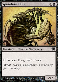 Spineless Thug - 9th Edition