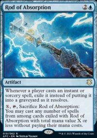 Rod of Absorption 1 - D&D Forgotten Realms Commander Decks