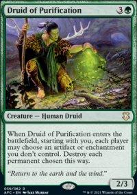 Druid of Purification 1 - D&D Forgotten Realms Commander Decks