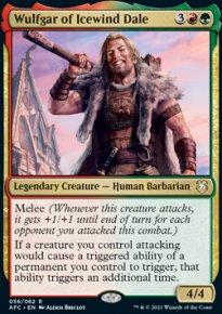 Wulfgar of Icewind Dale 1 - D&D Forgotten Realms Commander Decks