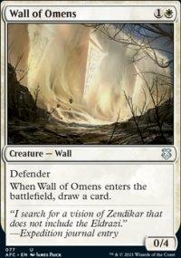 Wall of Omens - D&D Forgotten Realms Commander Decks