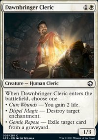 Dawnbringer Cleric - Dungeons & Dragons: Adventures in the Forgotten Realms