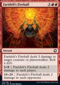 Farideh's Fireball - Dungeons & Dragons: Adventures in the Forgotten Realms