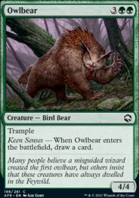 Owlbear 1 - Dungeons & Dragons: Adventures in the Forgotten Realms