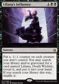 Liliana's Influence - Amonkhet
