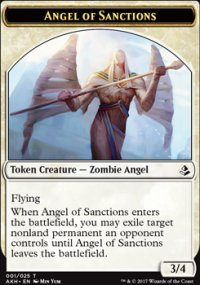 Angel of Sanctions Token - Amonkhet
