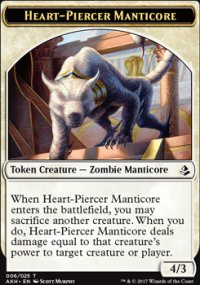 Heart-Piercer Manticore Token - Amonkhet