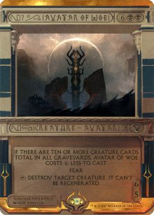 Avatar of Woe - Amonkhet Invocations