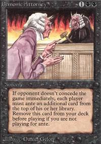 Demonic Attorney - Limited (Alpha)