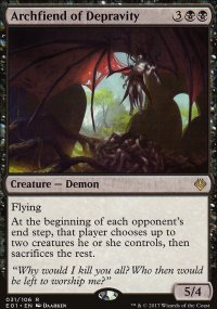 Archfiend of Depravity - Archenemy: Nicol Bolas decks