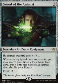 Sword of the Animist - Archenemy: Nicol Bolas decks