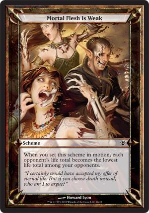 Mortal Flesh Is Weak - Archenemy - schemes