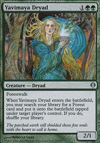 Yavimaya Dryad - Archenemy - decks