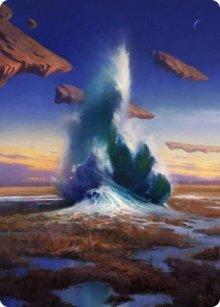 Flooded Strand - Art 1 - Zendikar Rising - Art Series