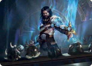 Halvar, God of Battle - Art 1 - Kaldheim - Art Series