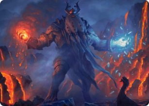 Aegar, the Freezing Flame - Art 1 - Kaldheim - Art Series