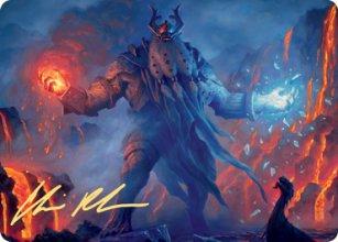 Aegar, the Freezing Flame - Art 2 - Kaldheim - Art Series