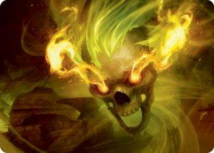 Flameskull - Art 1 - D&D Forgotten Realms - Art Series
