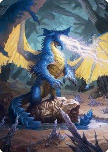 Blue Dragon - Art 1 - D&D Forgotten Realms - Art Series