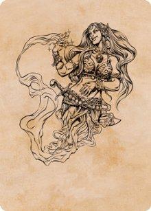 Djinni Windseer - Art 1 - D&D Forgotten Realms - Art Series