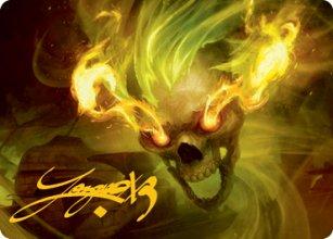 Flameskull - Art 2 - D&D Forgotten Realms - Art Series