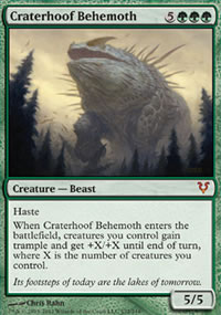 Craterhoof Behemoth - Avacyn Restored