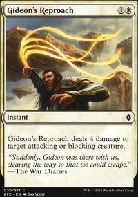 Gideon's Reproach - Battle for Zendikar