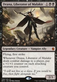Drana, Liberator of Malakir - Battle for Zendikar