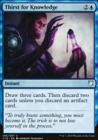 Thirst for Knowledge - Commander 2018
