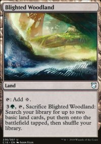 Blighted Woodland - Commander 2018