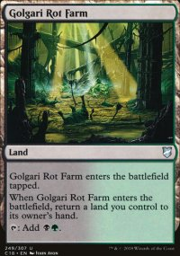 Golgari Rot Farm - Commander 2018