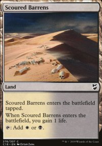 Scoured Barrens - Commander 2018