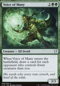 Voice of Many - Commander 2019