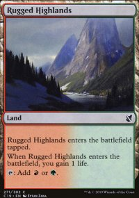 Rugged Highlands - Commander 2019