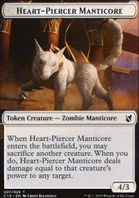 Heart-Piercer Manticore Token - Commander 2019