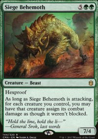 Siege Behemoth - Commander Anthology