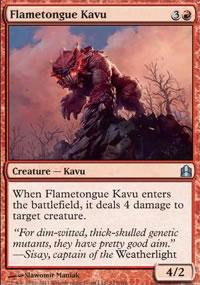 Flametongue Kavu - MTG Commander