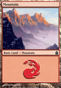 Mountain 3 - MTG Commander