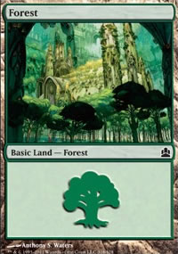 Forest 4 - MTG Commander