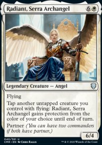 Radiant, Serra Archangel 1 - Commander Legends