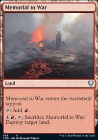 Memorial to War - Commander Legends