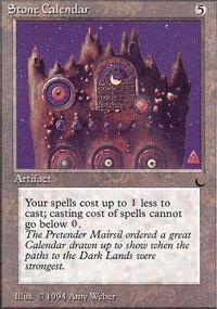 Stone Calendar - The Dark