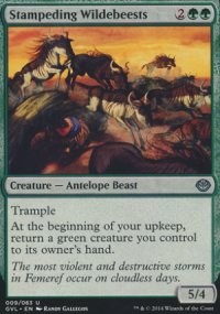 Stampeding Wildebeests - Duel Decks : Anthology