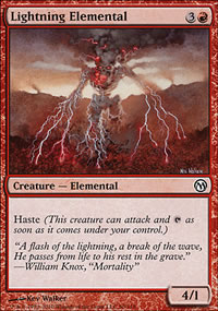 Lightning Elemental - Duels of the Planeswalkers