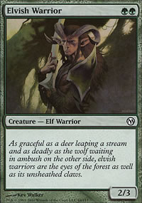 Elvish Warrior - Duels of the Planeswalkers