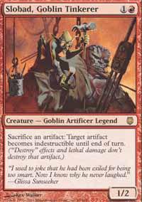Slobad, Goblin Tinkerer - Darksteel