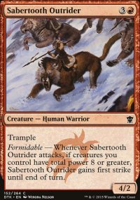 Sabertooth Outrider - Dragons of Tarkir
