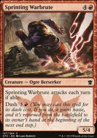 Sprinting Warbrute - Dragons of Tarkir